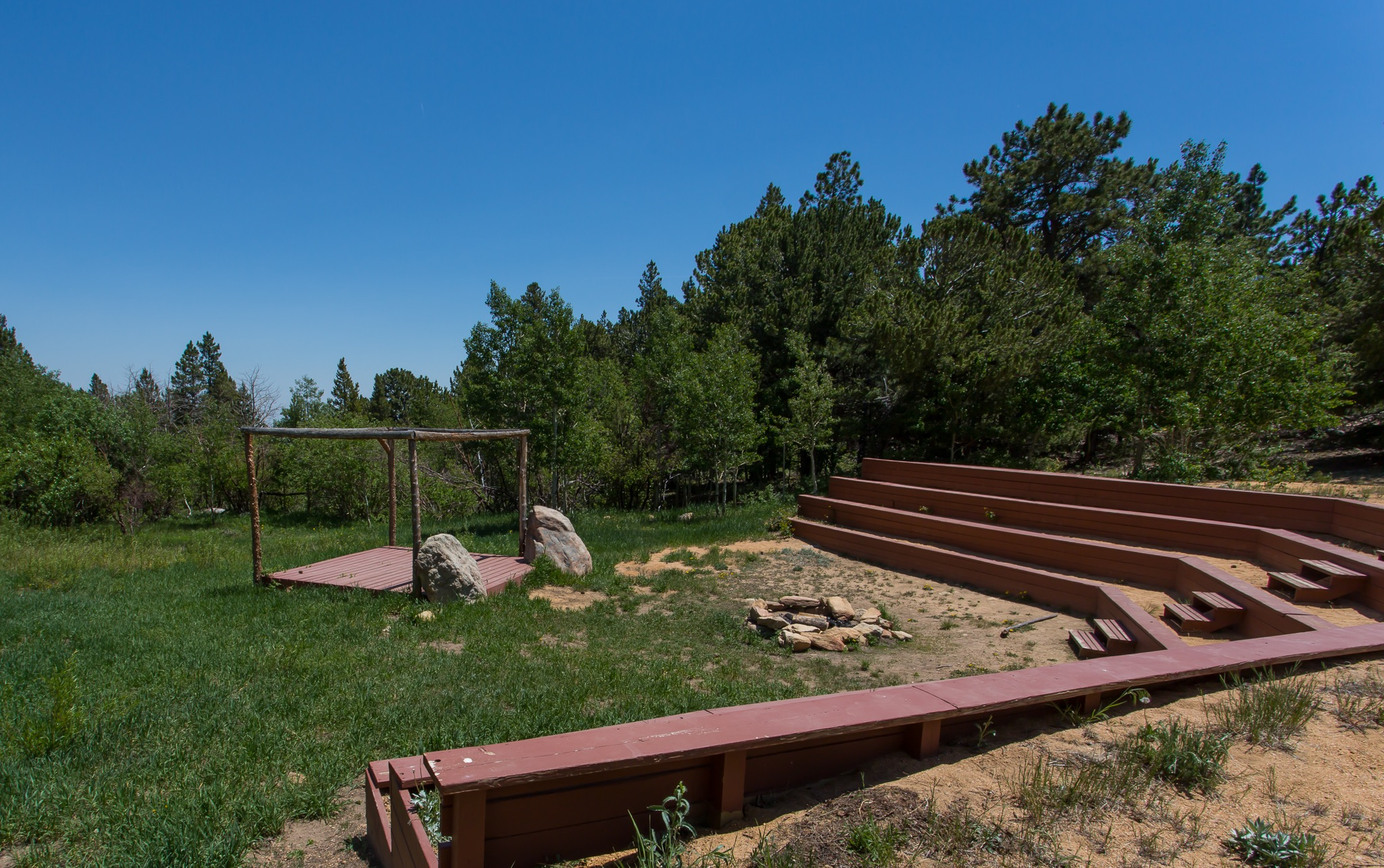 Image of the camp granite lake Amphitheater
