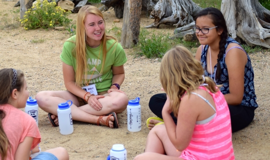 Image of our Staff connecting with each camper...